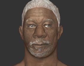 Morgan freeman actor head realistic old man 3D game-ready