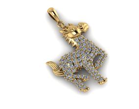 3D print model horse jewelry