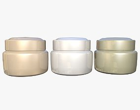 3D Cosmetics Cream Jar