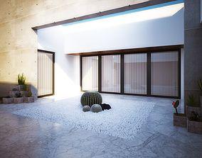 3D print model Exterior view of a very simple modern villa