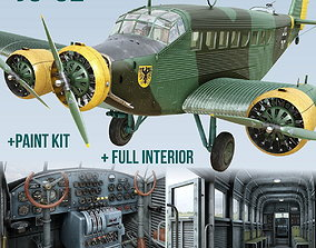 3D animated Junkers Ju-52