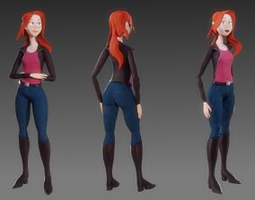 Fully rigged character for Blender 3D model