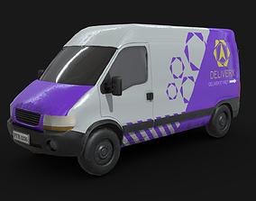 3D asset Generic Delivery Van