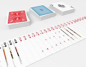 3D Playing Cards Poker Card Set - single textures