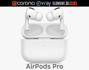 Apple AirPods Pro 3D model audio