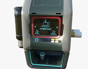 Sci-fi Coffee Machine 3D asset