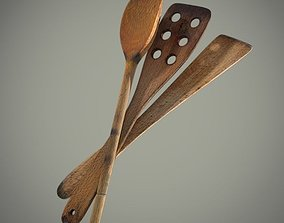 3D model Wooden spatula