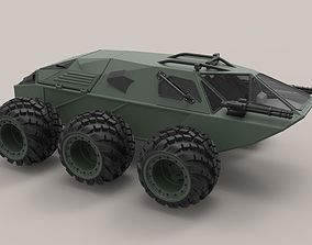 Concept military vehicle truck 3D model