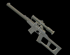 VSS with PSO-1 and bullets 3D model