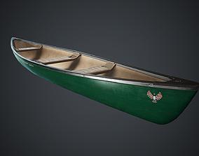 Canoe 1 PBR Game Ready 3D model