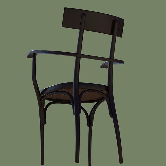 Gebrueder Thonet Vienna Czech Arm Chair
