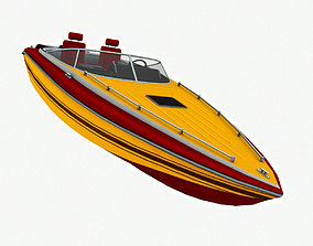 Speed Boat 3D model low-poly