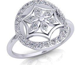 Fancy Woman Diamond Ring 21 3D print model