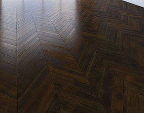 Parquet chevron classic dark Floor 3D asset