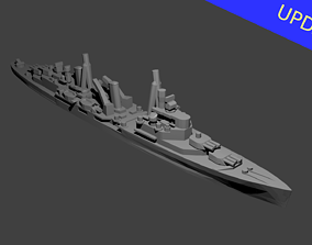 British Town Class Cruiser Warship 3D printable model