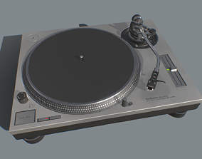 Technics SL1200 MK2 Turntable - Game Asset - game-ready