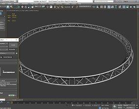 3D printable model Circle Triangular Truss Full diameter