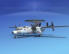 Grumman E-2C Hawkeye V01 3D