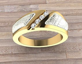 3D print model Ring Crocodile skin