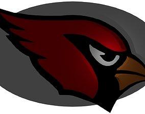 3D model Cardinals NFL football logo