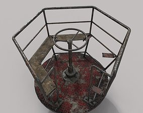 Abandoned Merry-Go Round 3D model