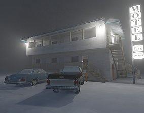 Motel Scene 3D asset