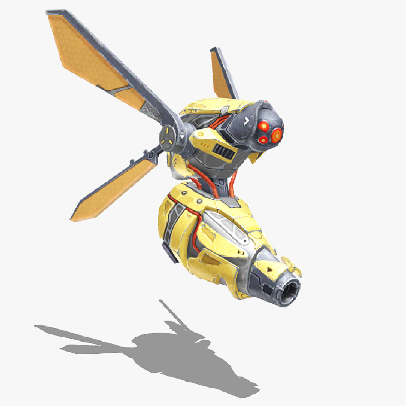 Drone Low-poly 3D model