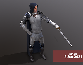TAB Medieval Knight - 4 3D model animated