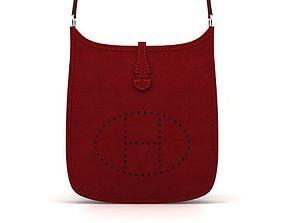 Bag Hermes leather evelyne 3D model