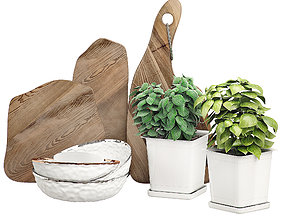 3D Kitchen decor set 2 furniture