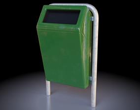 3D model Low-Poly Street Bin