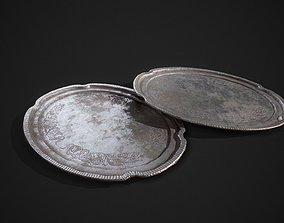 PBR Silver Plate 3D model