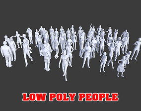 50 Low Poly People Collection Pack 2 3D asset