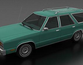 3D model Ford Fairmont 4dr wagon 1978
