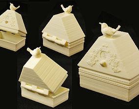Bluebird of Happiness Antique Ring Box 3D print model