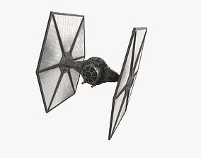 3D model TIE-fo space superiority fighter