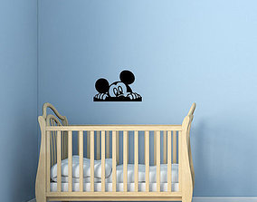 3D printable model Mickey Kids and baby room wall art 2