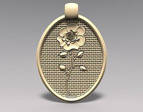 3D print model Rose pendant keychain