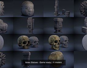 Aztec Statues - Game ready 3D