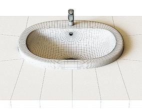Roca Coral sink 56x48 cm built-in top 327898000 3D model