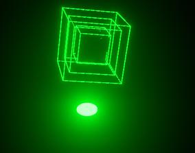 Animated Square Tri Hologram 3D asset