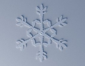 snowflake Christmas-tree ornament 3D print model