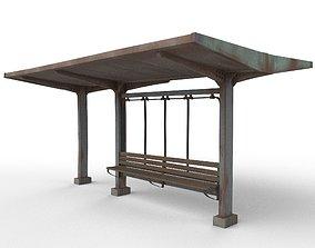 old bus stop 3D model