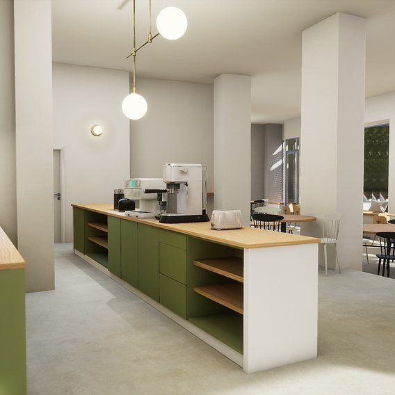3D Models from my Library I used for ArchViz Coffee House in Prague