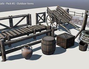 3D asset Medieval Details Set 01 OutdoorItems