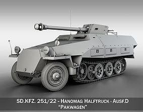 SDKFZ 251 22 - Ausf D - Pakwagen 3D model