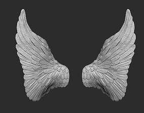 Angel wings 3D printable model cupid