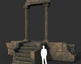 Low poly Ancient Roman Ruin Construction 06 - 3D asset 1
