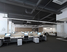 3D Office meeting room reception hall 24