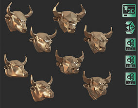 3D printable model Bull Heads Pack